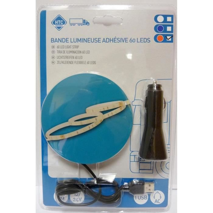 Blande Flexible Adhésive Lumineuse 60 LEDS 12/24V 2M Rouge