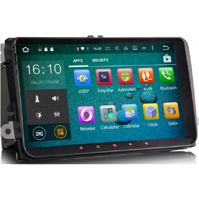 AUTORADIO GPS ANDROID CADDY/PASSAT / SAGITAR / GOLF / TIGUAN / TOURAN / JETTA / SKODA / SEAT / CC / POLO / GOLF 5 / GOLF 6 2006-2012