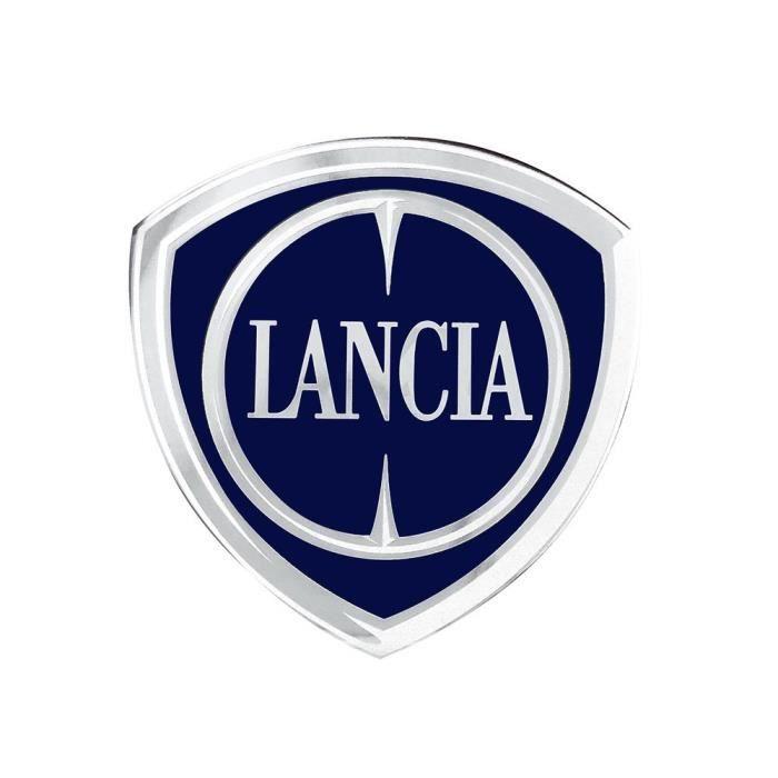 Autocollant 3D Lancia Officiel Logo, Bouclier 48 x 47 mm