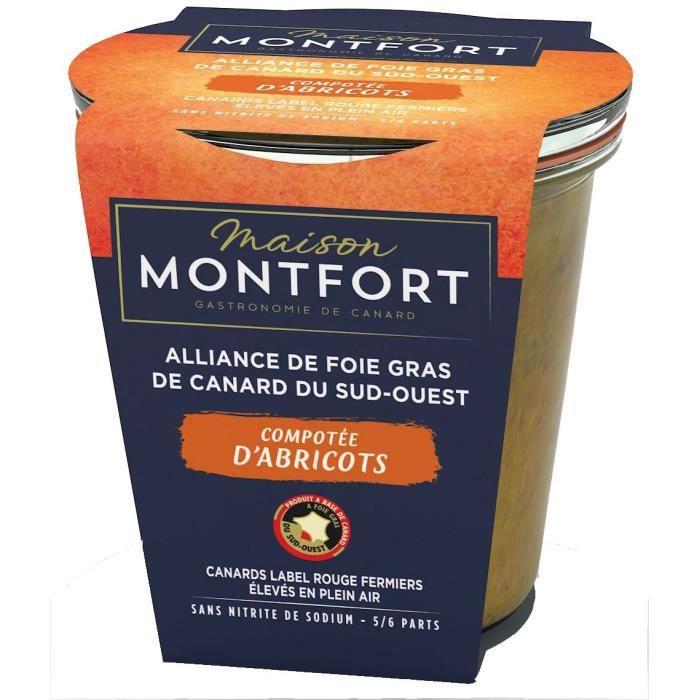MAISON MONTFORT Foie gras de canard entier - recette au poivre de sarawak & chutney - 180 g