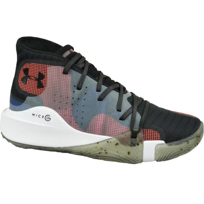 Under Armour Spawn Mid 3021262-006 chaussures de basket-ball pour homme Noir