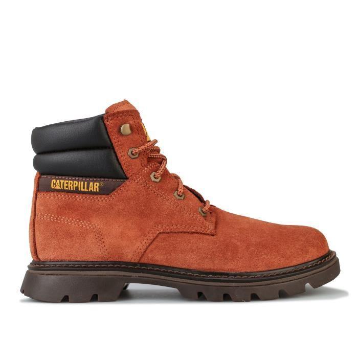 Boots Caterpillar Quadrate Pour Homme En Marron.