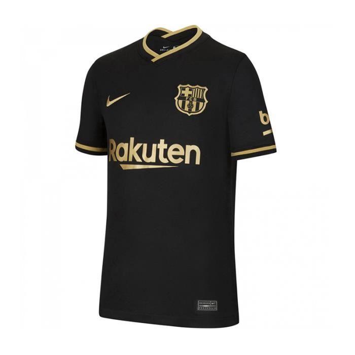Maillot Barca Barcelona - 2020-2021 Maillot de Football Away Jersey - Noir