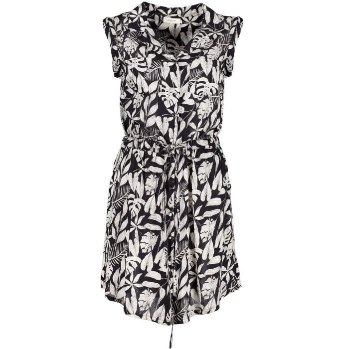 DEELUXE Robe saharienne à motif tropical ESSITA Tropical Print Black
