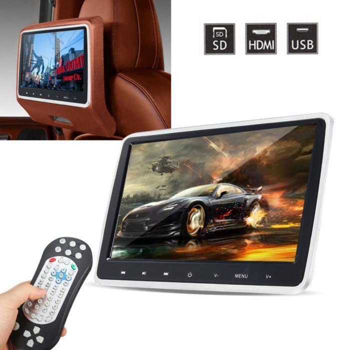 10.1- Voiture Headrest Monitor HD Écran Appuie-tête Vidéo Lecteur LCD DVD FM/ IR