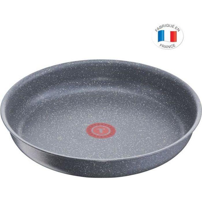 TEFAL L6800602 Ingenio Poêle 28cm Tous feux dont induction - Polyvalente - Antiadhésif - Fabriqué En France - Effet Pierre
