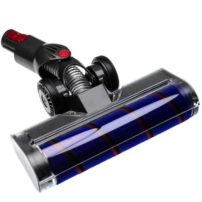vhbw buse de sol buse soft compatible avec Dyson V10, V11, V7, V8 aspirateur - gris / lilas / rouge / noir 25cm avec mousse soft