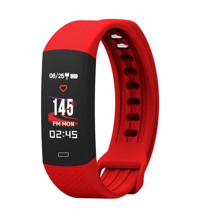MONTRE CONNECTÉE LANQI Bracelet Smart Cardiofréquencemètre IP 67 Mo