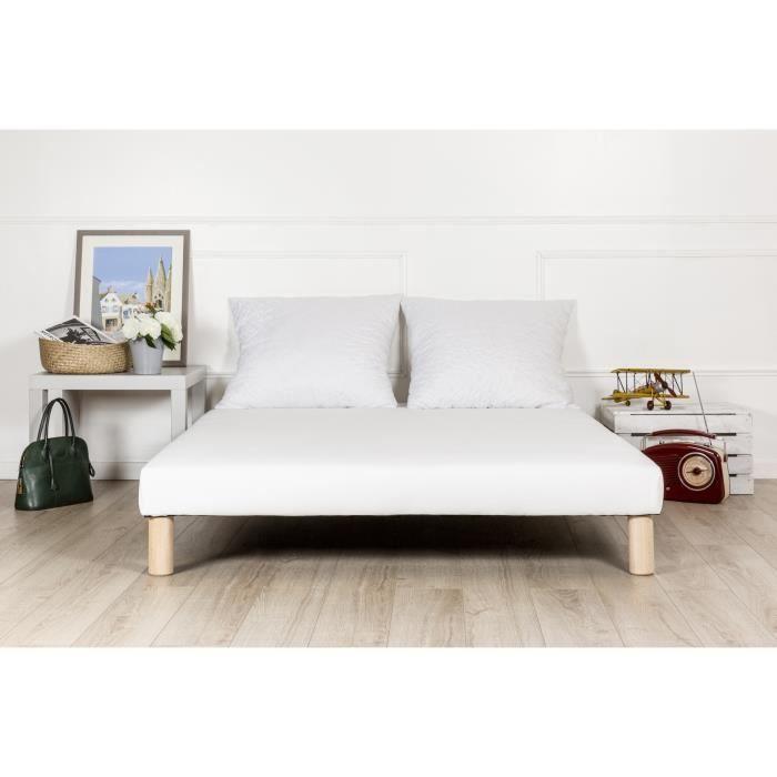 SOMMIER Sommier tapissier 140x190 fabriqué en France + pie