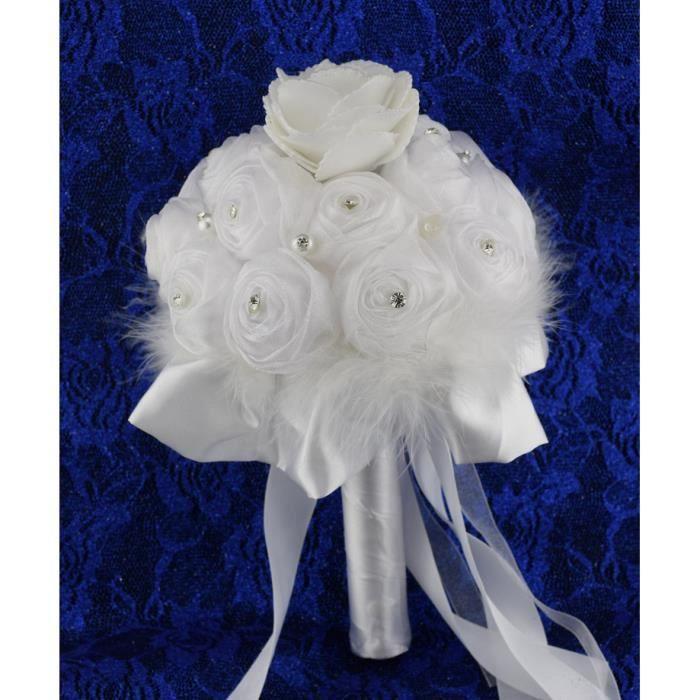 Bouquet pour la Mariée Fleurs Tissu Accessoire