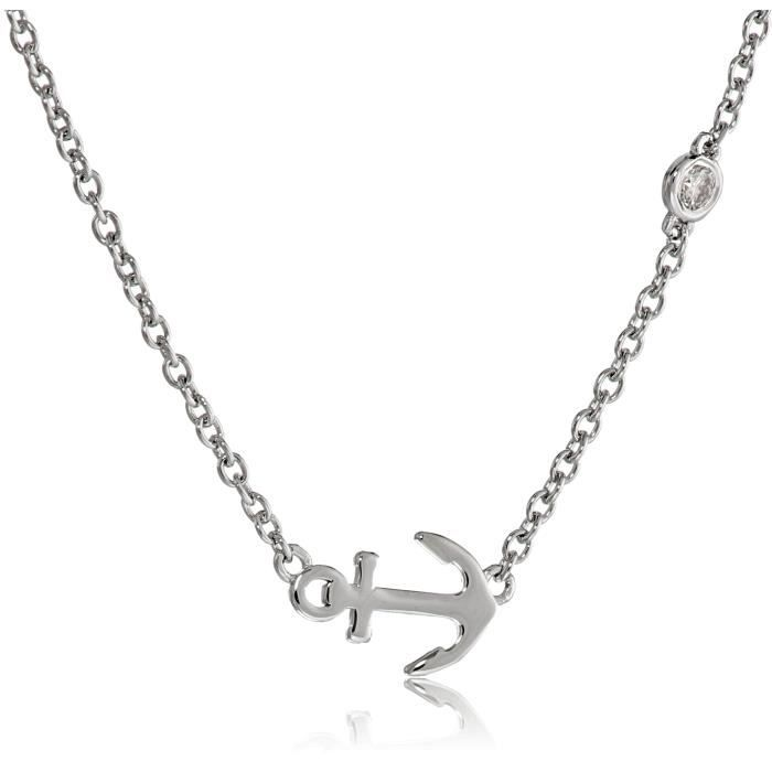 Anchor Necklace With Diamond Bezel G6CR8