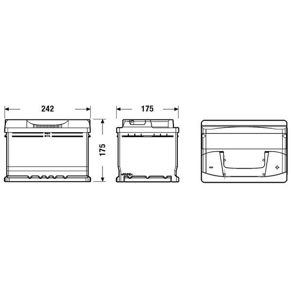 fulmen formula batterie auto fb602 12v 60ah 540a achat. Black Bedroom Furniture Sets. Home Design Ideas