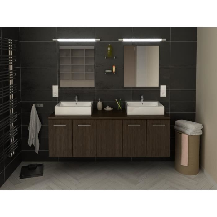meuble de salle de bain vasque longueur 50cm achat vente pas cher. Black Bedroom Furniture Sets. Home Design Ideas