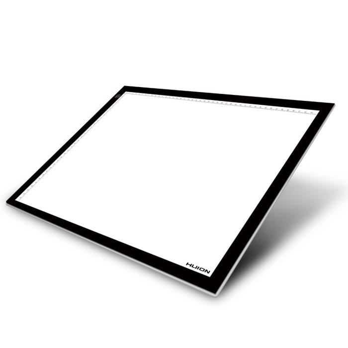 huion led r glable light pad table lumineuse a3 avec des panneaux acryliques achat vente. Black Bedroom Furniture Sets. Home Design Ideas