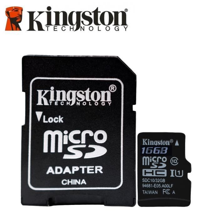 CARTE MÉMOIRE Kingston - SDC10G2/16GB - Carte MicroSD - 16 Go -