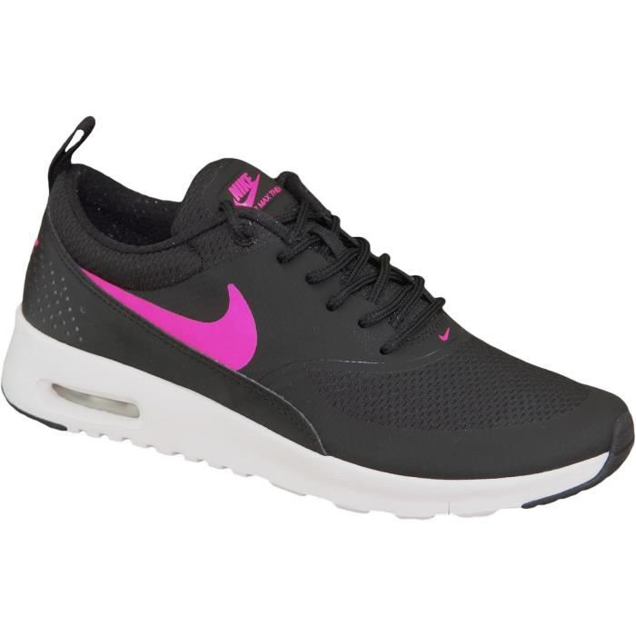 nike air max thea gs 814444 001 femme baskets noir noir rose achat vente basket cdiscount. Black Bedroom Furniture Sets. Home Design Ideas