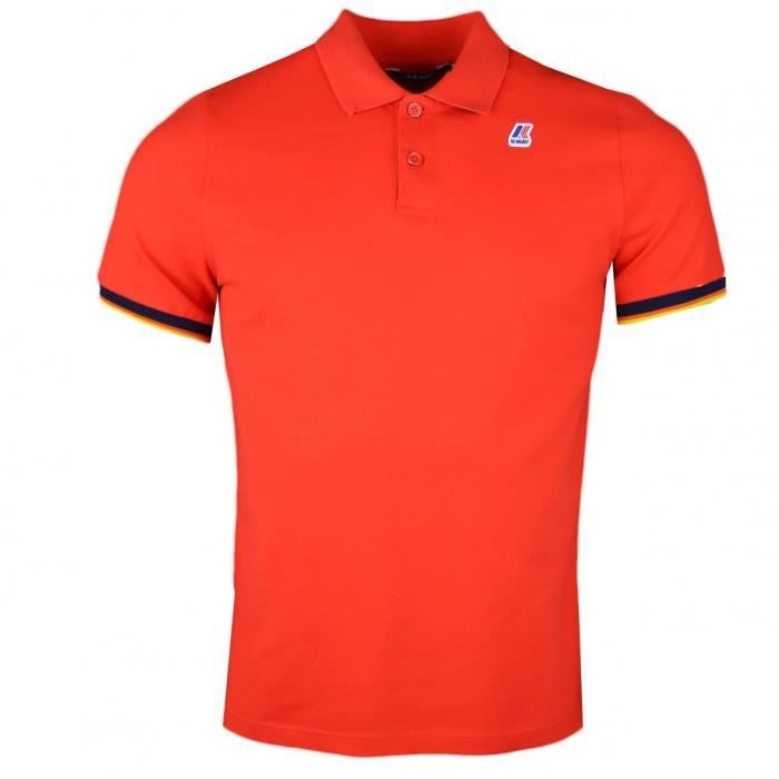 POLO Polo K-Way rouge régular fit pour homme - Taille: