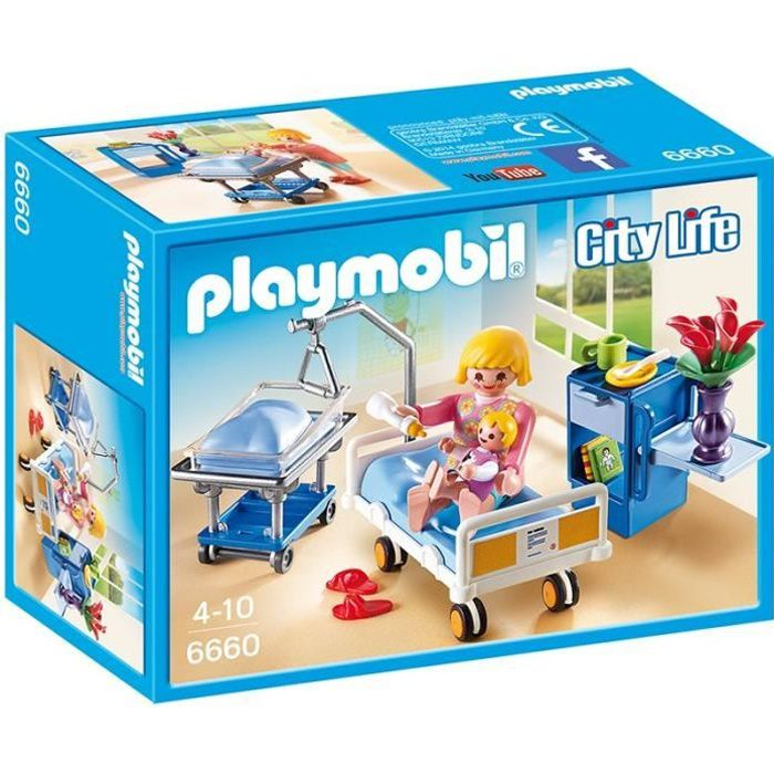 Playmobil 6660 chambre de maternit achat vente for Salle a manger playmobil city life