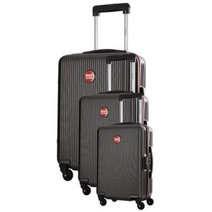 BAGSTONE Valise Cabine Rigide Goldy - 4 Roues - Gris