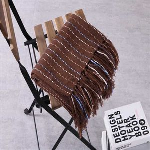 COUVERTURE - PLAID Couverture en laine tricotée gaufré pour lits avec