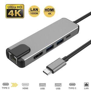 HUB HUB USB C VERS HDMI 4K ET USB 3.0 ET PRISE INTERNE