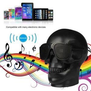 ENCEINTE NOMADE Enceintes Bluetooth Portable Crâne Skull Head Haut