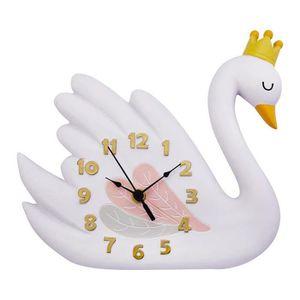 HORLOGE - PENDULE Horloge murale enfant Swan Lake pendule en bois po