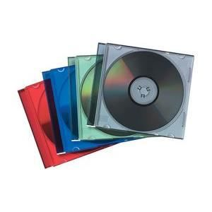 RANGEMENT CD-DVD Fellowes boîtier CD Slimline, transparent/noir …