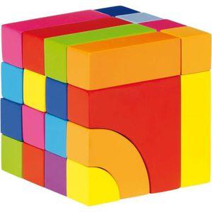 ASSEMBLAGE CONSTRUCTION Jeu de construction mosaïque - cube