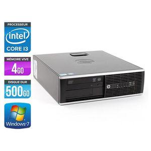 UNITÉ CENTRALE  HP Elite 8200 SFF - Intel Core i3 - 3.1GHz - 500Go