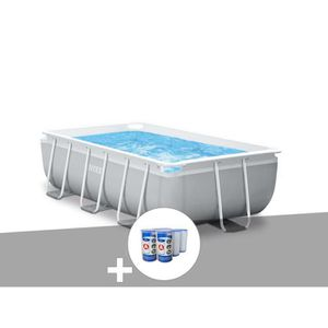 PISCINE Kit piscine tubulaire Intex Prism Frame rectangula