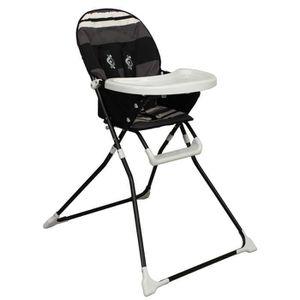 Black Noir Chaise haute Lines pliante bébé Achat LOOPING q4LjSAc35R
