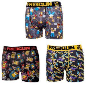 BOXER - SHORTY FREEGUN LES SIMPSON Lot de 3 Boxers Multicolore En