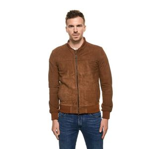 BLOUSON Tassa - Teddy en daim veritable marron - Marron