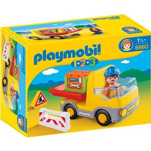 UNIVERS MINIATURE PLAYMOBIL 1.2.3. 6960 Camion benne