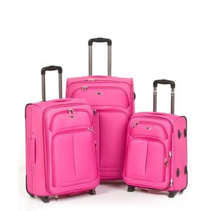 SET DE VALISES Set 3 valises, 4 roues pivotantes ROSE