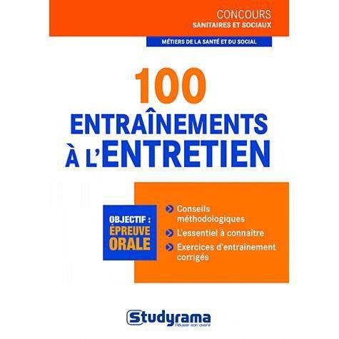 100 entraînements à l'entretien