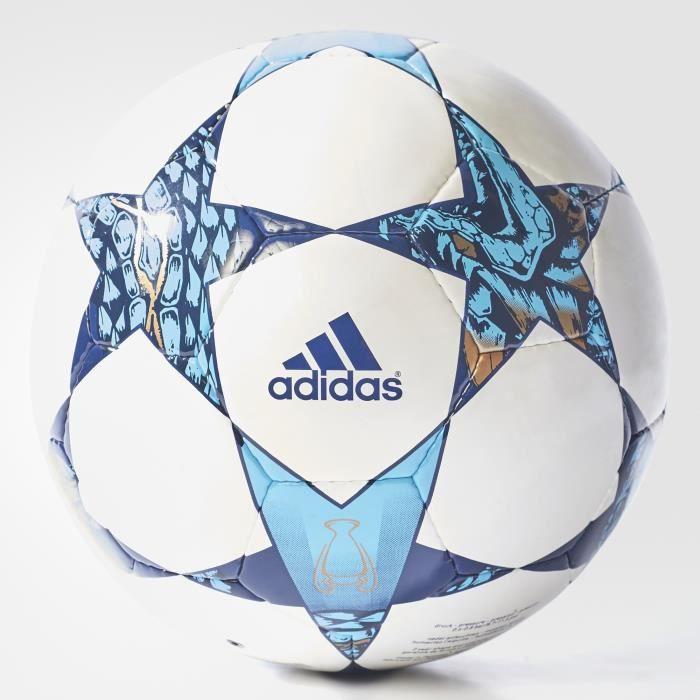 Ballon adidas Finale Cardiff Society - blanc/bleu nuit/bleu cyan - Taille 5