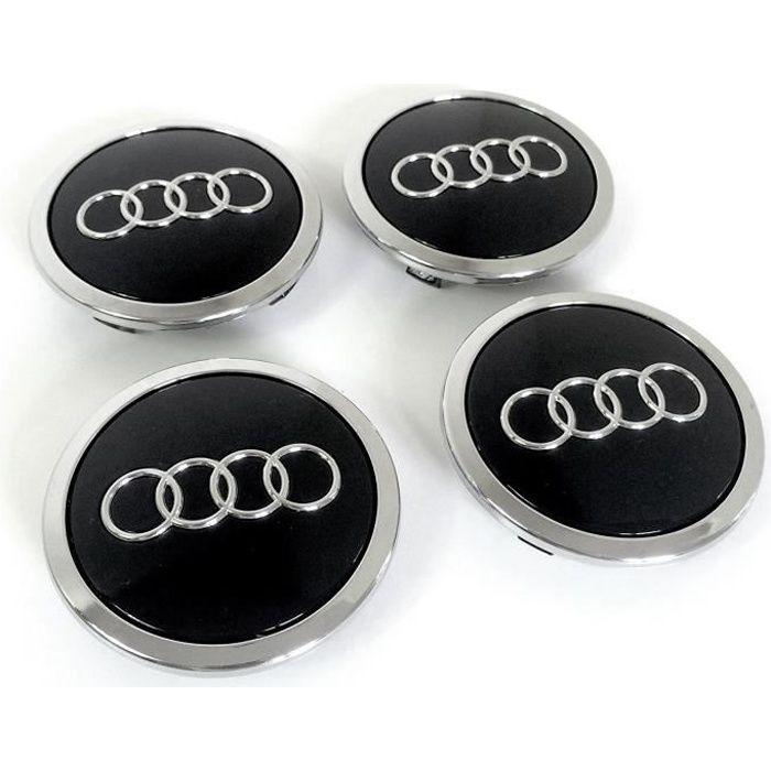 Lot de 8 caches-moyeu pour Audi 60 mm A Convient pour Audi A3 A4 A5 A6 A7 A8 S4 S5 S6 S8 RS4 Q3 Q5 Q7 TT A4L A6L