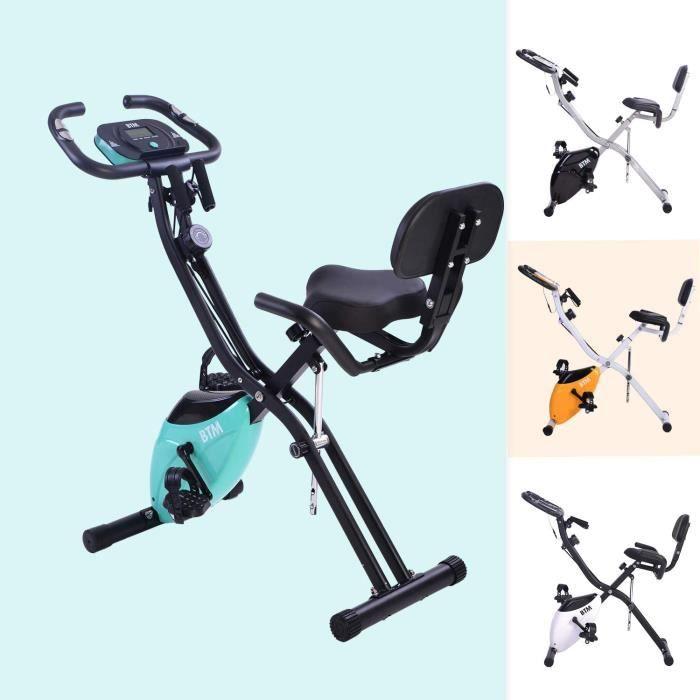 Merax Fitness Bike, Vélo d'appartement avec Computure Traningscomputure et Expanderb?nder Cycling Bike, 10 niveaux de résistance mag