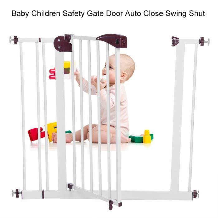 Barrière de sécurité enfant Bébé 80 à 91 cm - Barrière de Sécurité pour Escaliers, Portes, Couloir - OLL