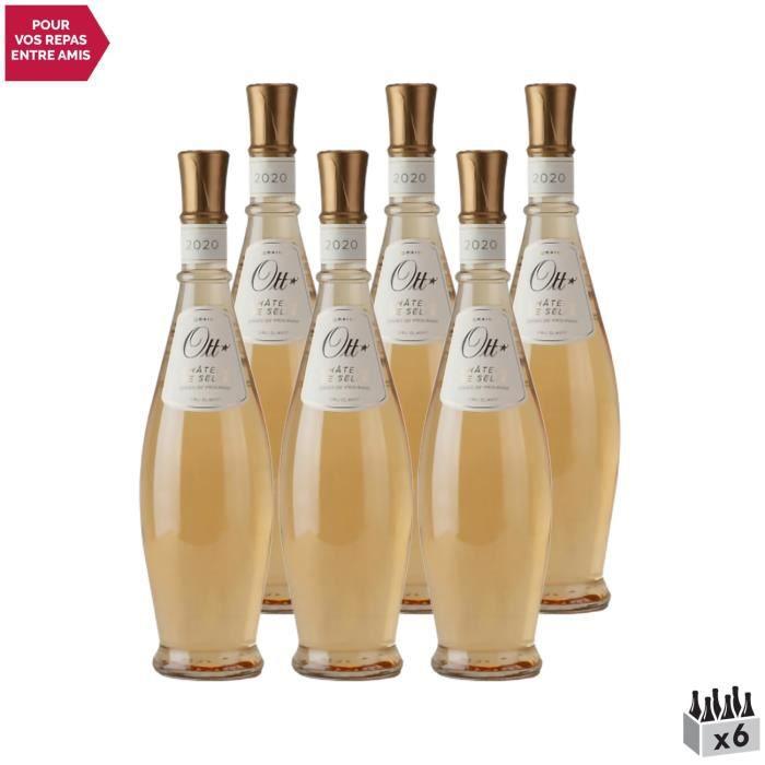 Côtes de Provence Château de Selle Coeur de grain Rosé 2020 - Lot de 6x75cl - Domaines OTT - Vin AOC Rosé de Provence