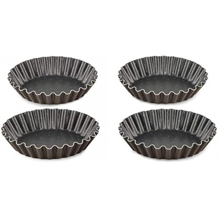 perfectbake lot de 4 moules a tartelettes 11cm aluminium 100% recyclé j5548102