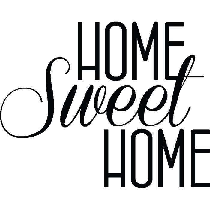 Pick and Stick Sticker Mural Home sweet Home - …
