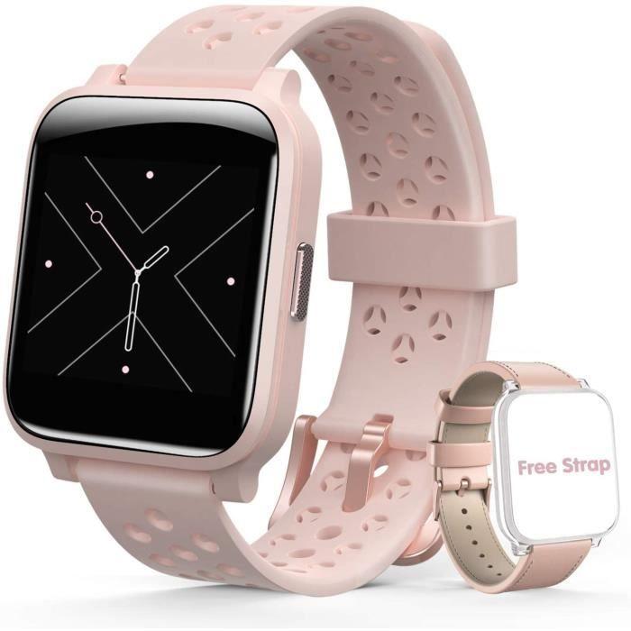 Hommie Montre Connectée Femme Smartwatch Sport Etanche IP67 Bracelet Connecté Cardiofréquencemètre Podomètre Fitness Tracker d'Activ