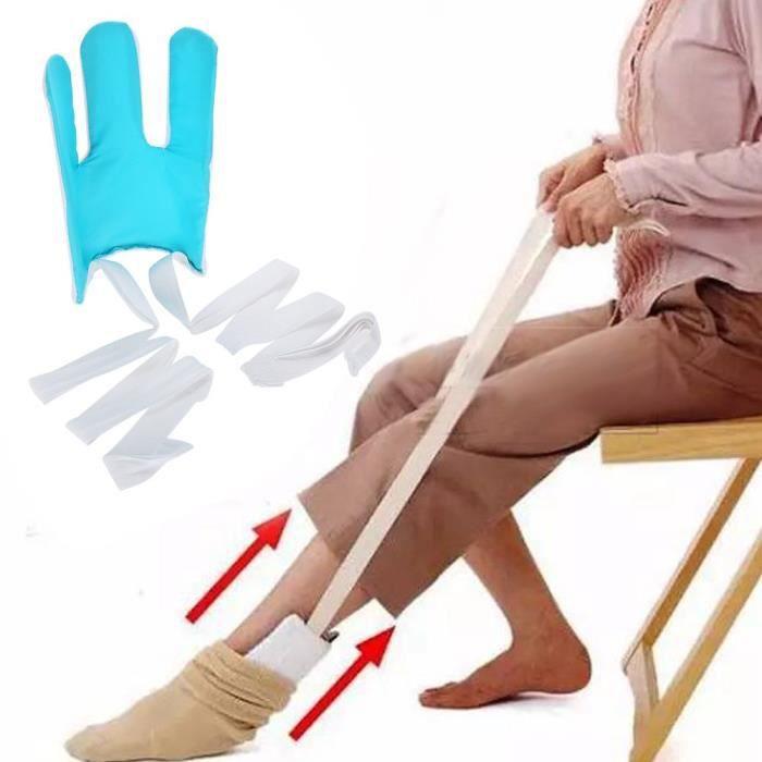 Enfile-bas et chaussettes courbé pour personnes âgées-handicapped People
