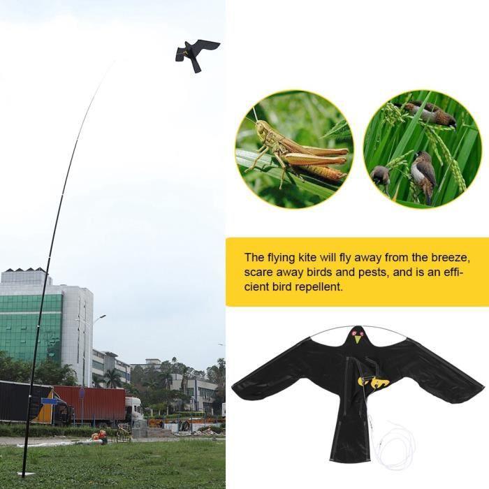 QUT®- 6m cerf-volant effaroucheur répulsif oiseau protégeant cultures fermier cerf-volant répulsif oiseau