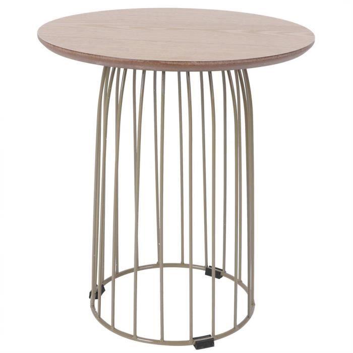 Fdit Table de thé Table d'Appoint Simple Moderne Table Basse Ronde pour Salon Fournitures à Intérieur Extérieur(Or )