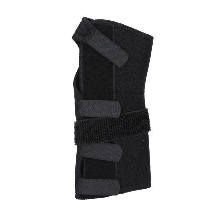 Attelle de poignet réglable Fixation de récupération des blessures ligamentaires Sangle de soutien Noir (XL-gauche)-FUT