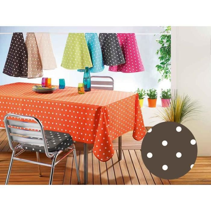 Nappe rectangle 150x240 LOLLYPOP choco